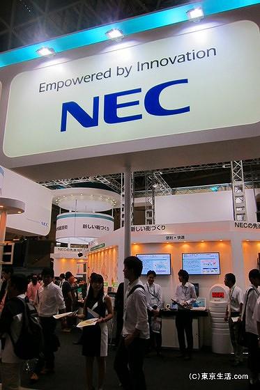 NECのブース
