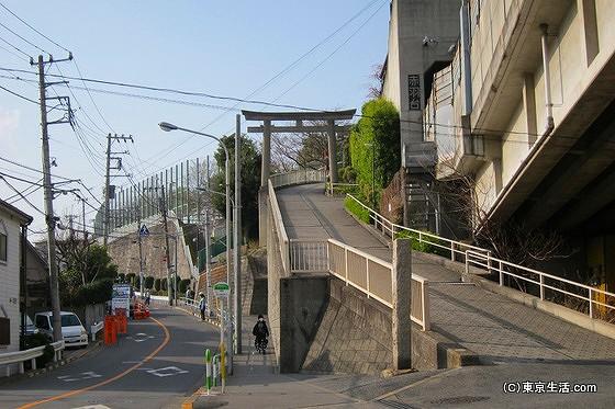 赤羽八幡神社の坂の下