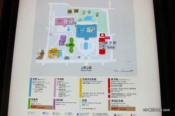 東京国立博物館の構内図