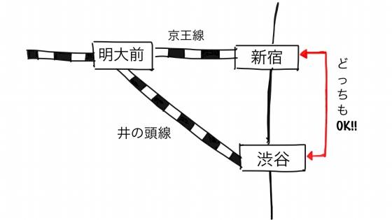 京王線の地図