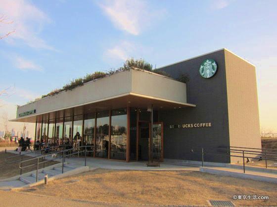 二子玉川公園店|多摩川沿いの公園にあるスタバの画像
