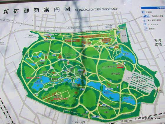 新宿御苑の地図