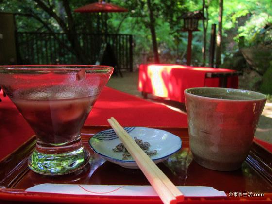 等々力渓谷の甘味カフェ「雪月花」