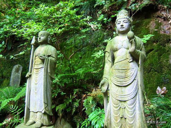 等々力渓谷の仏像