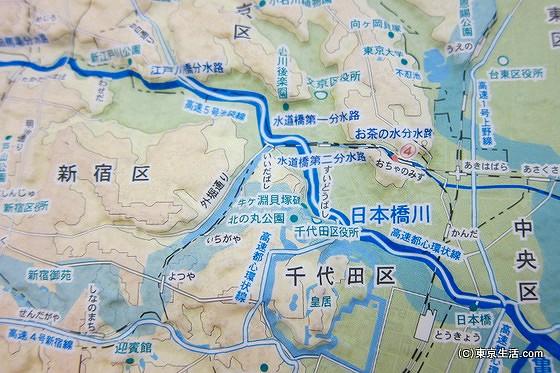 神田川の高低差マップ