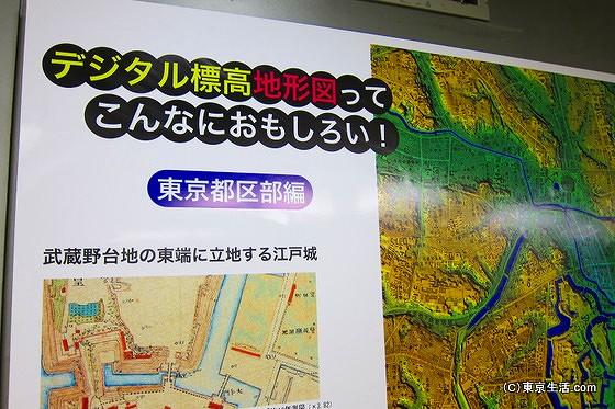 東京のデジタル地形図
