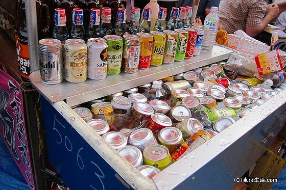 三社祭りの屋台 飲み物