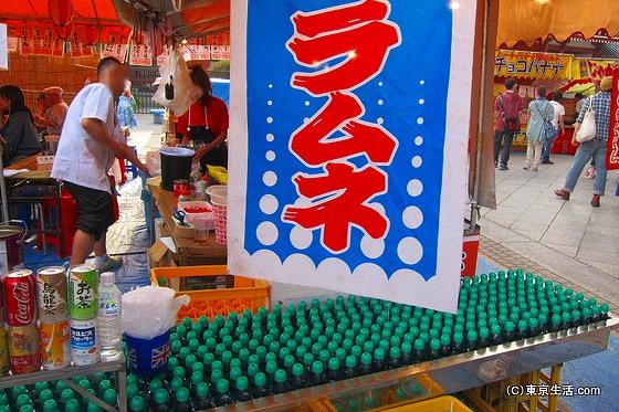 三社祭りの屋台 ラムネ
