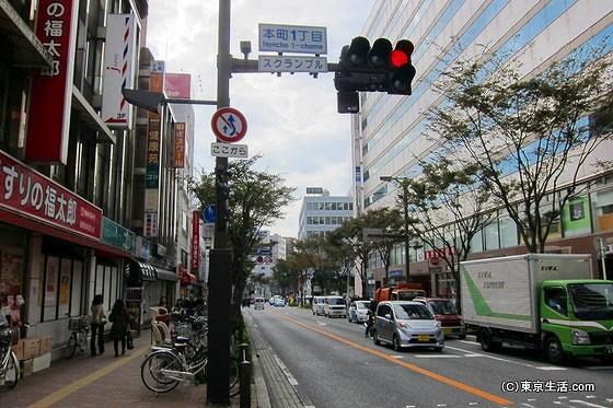 本町一丁目の交差点