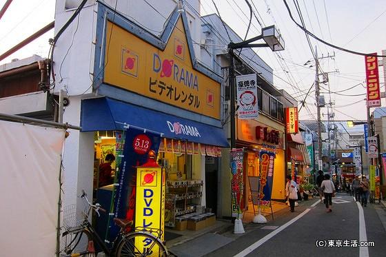 豪徳寺商店街のレンタルビデオ