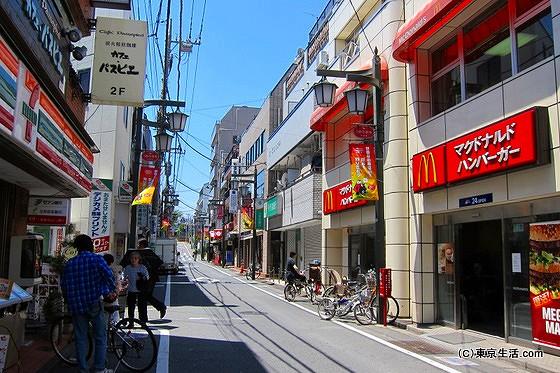 梅ヶ丘の商店街