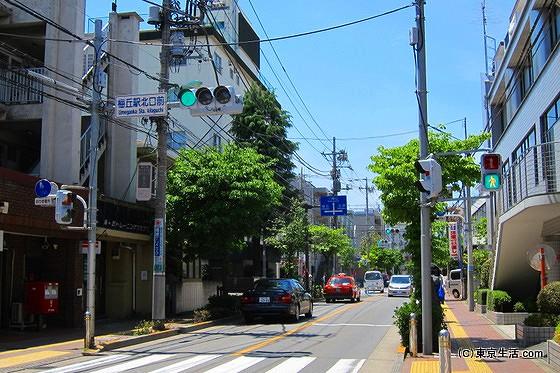 梅ヶ丘駅の北口交差点