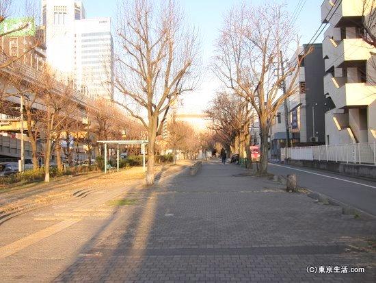 甲州街道沿いの公園