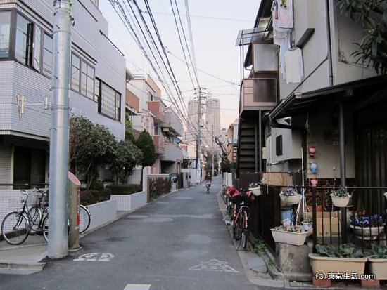 密集した住宅街