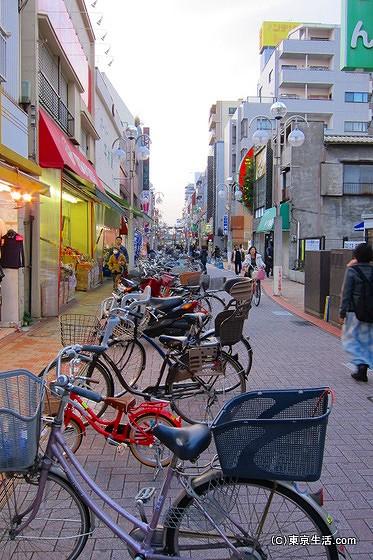 自転車が多い平井