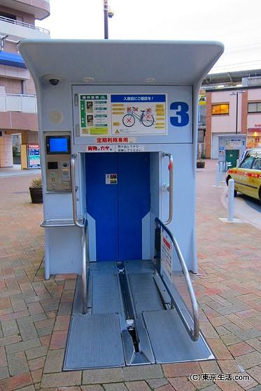 平井の地下自転車駐輪場