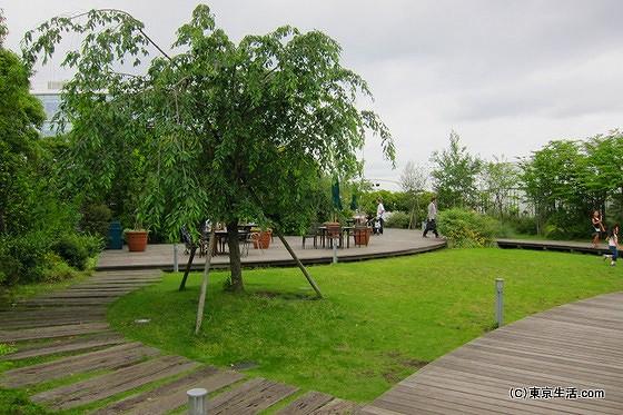 高島屋の屋上庭園
