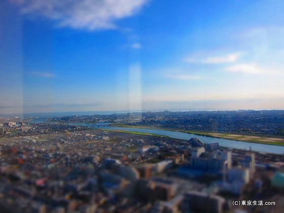 東京湾へと流れこむ江戸川