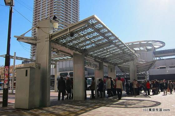 市川駅のバス停