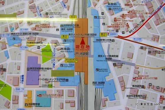 池袋駅の地図