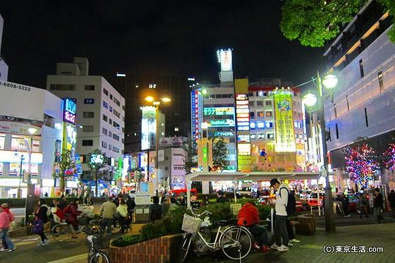 蒲田駅西口のロータリー