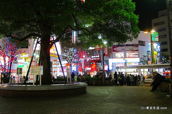 蒲田駅前の広場