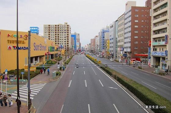 京葉道路から望む