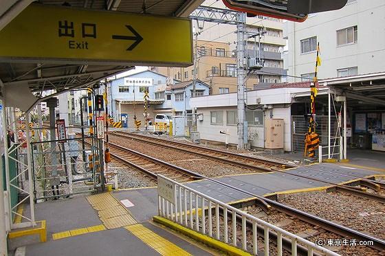 亀戸水神駅のホーム