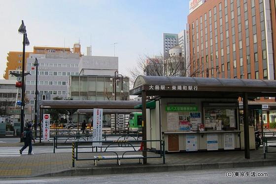 亀戸のバスターミナル