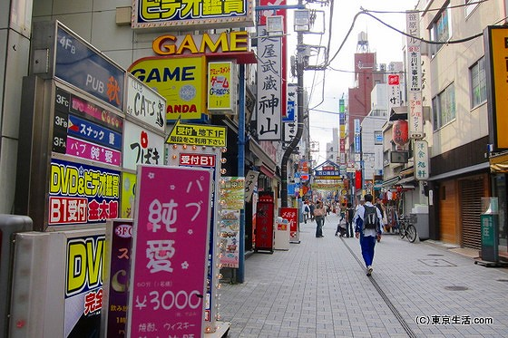 神田の商店街の街並み