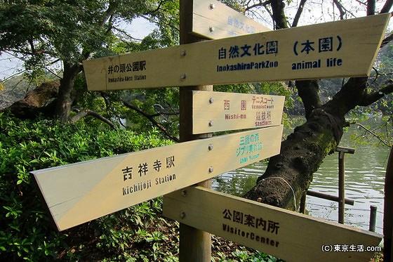 井の頭公園の看板