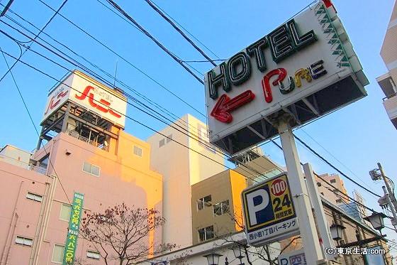 小岩のラブホテル街