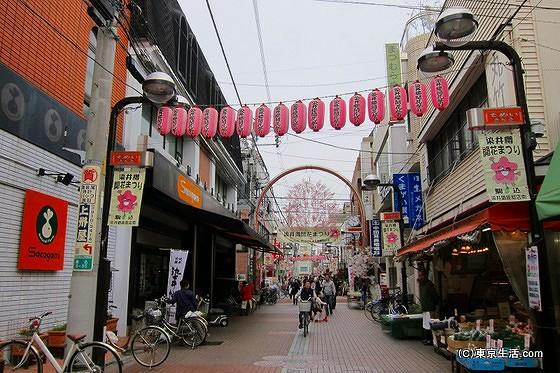 駒込の商店街