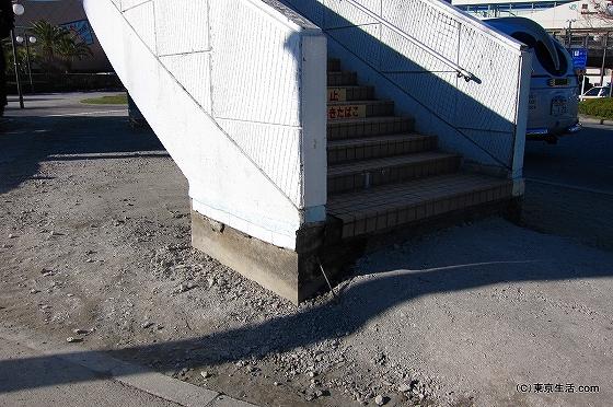 舞浜駅への階段