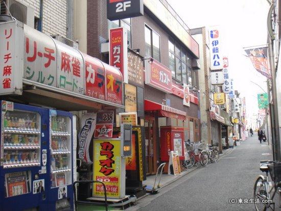 学生街的なお店並び