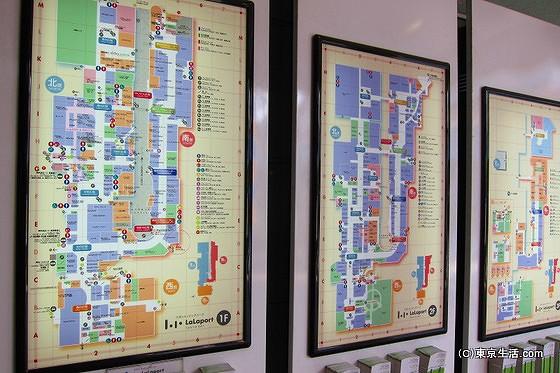 ららぽーとの店舗の地図