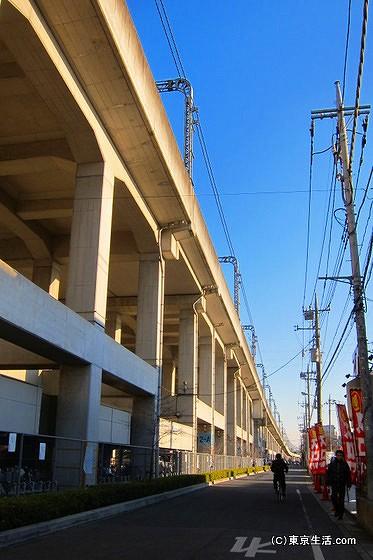 東武伊勢崎線の高架