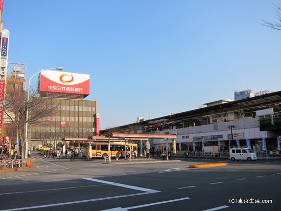 中野駅の北口側
