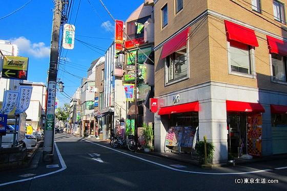 成城の商店街