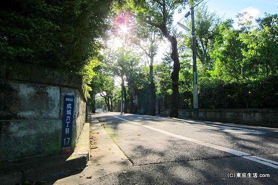 高級住宅街である成城