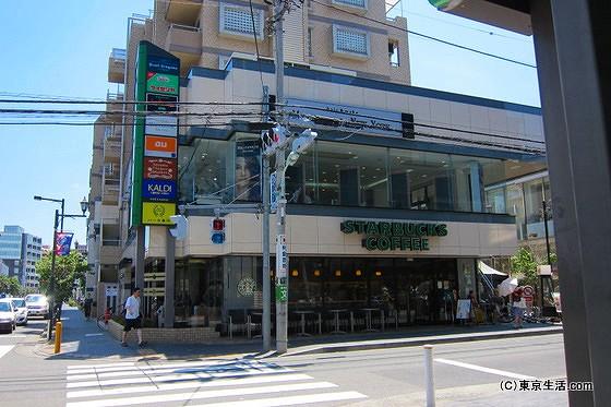 仙川の商店街のスタバ
