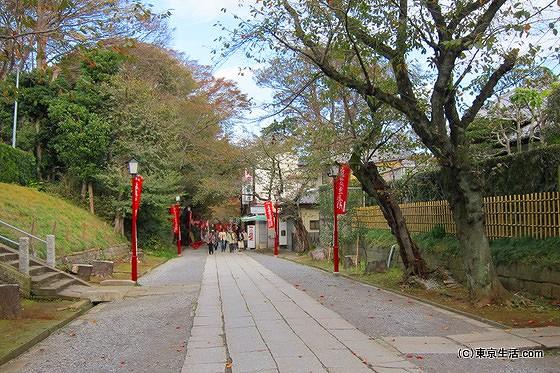 法華経寺の境内
