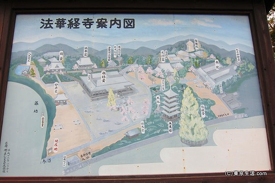 法華経寺境内図