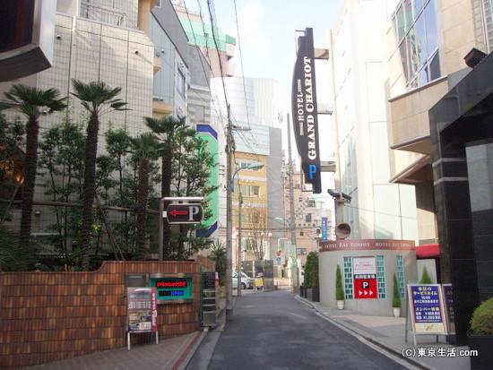 歌舞伎町のラブホテル街
