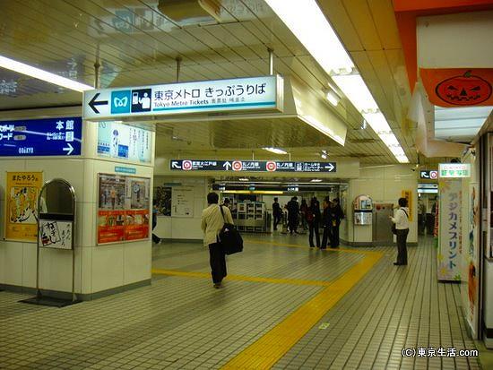 東京メトロの改札