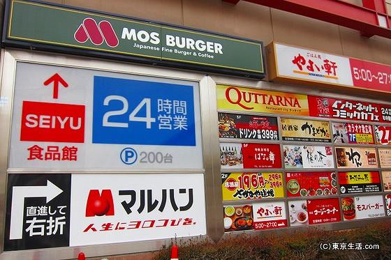 新小岩の駅前ビルの入店店舗