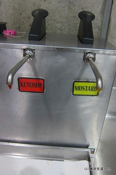 コストコフードコートのケチャップの機械
