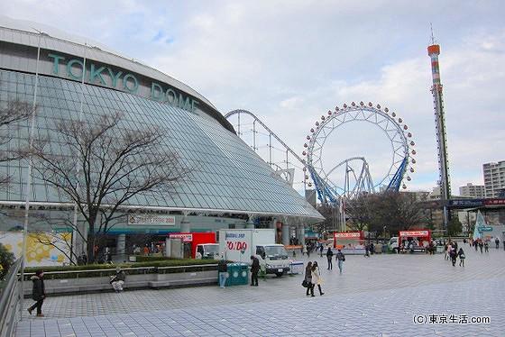 東京ドームと遊園地