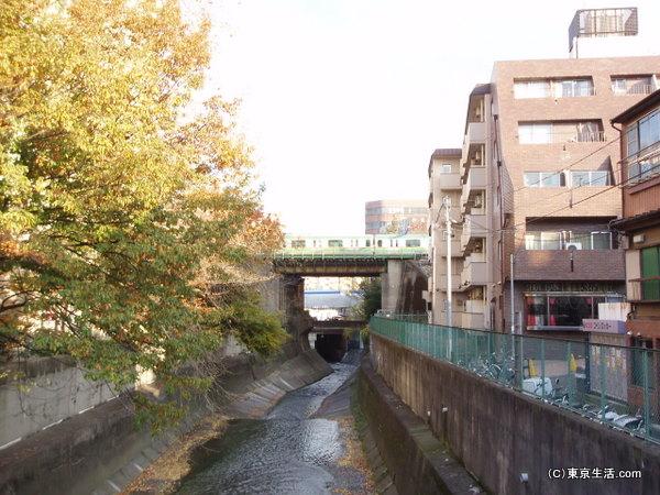 高田馬場:駅の北側を流れる神田川