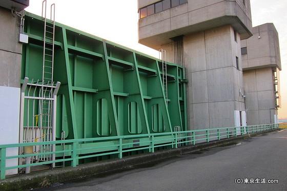 三領水門の門